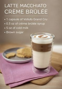 Just like your favorite dessert filled with creamy custard and candied caramel, this Crème Brûlée Latte Macchiato recipe has a delightful caramel color and sweet flavor that you're sure to enjoy! Click to make this treat for yourself with a capsule of Volluto Grand Cru.