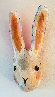 paper maché rabbit