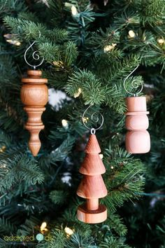 Wood Turned Christmas Ornaments