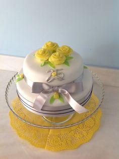 Bodas de prata! Um bolo muito especial.