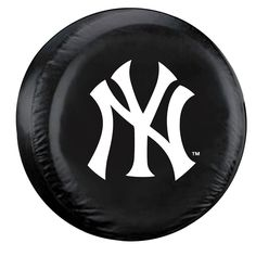 New York Yankees Black Tire Cover - Standard Size (Blemished)