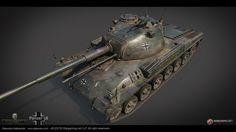 ArtStation - German medium tank Panzer 58 (TIER VIII), Aleksander Galevskyi