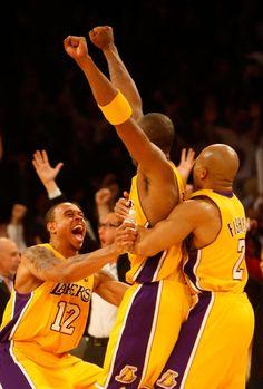Kobe Bryant and Derek Fisher Photo - Miami Heat v Los Angeles Lakers