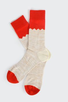 GOOD AS GOLD — NORSE PROJECTS Bjarki Blok Socks, brick red  http://www.goodasgold.co.nz/collections/norse-projects