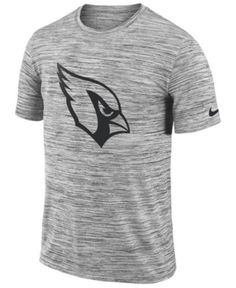 0a3e32127 Nike Men s Arizona Cardinals Legend Velocity Travel T-Shirt - Gray XL Nfl  Shop