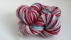 Betsy  Red White and Blue freckled by ManicPixieDreamYarn on Etsy, $30.00