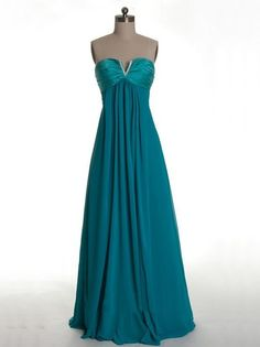 Empire Chiffon Elegant Cheap Green prom dress under 150   Cheap prom dresses Sale
