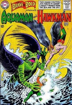 The Brave and the Bold 51 Aquaman and Hawkman Silver Age DC Comics