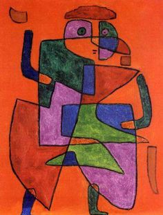 Paul Klee painted this future man to his successor of Bauhaus director, Mies van der Rohe. Displayed at Tate Modern exhibition until March 2014.