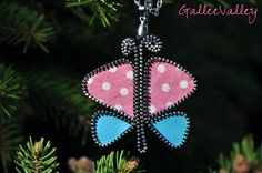 Butterfly pendant | Made from zipper, fabric and faux leathe… | Galina Ruseva | Flickr