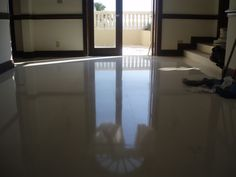 CLASSIC MARBLE RESTORATION: We were able to restore this #Limestone with a nice #Polish. Look at it shine :)