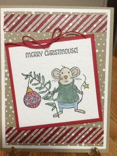 Merry Mice, Stampin' Up 2016 Holiday catalog, Christmas Cards