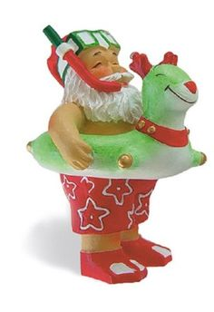 Island Heritage Beach Bound Santa Ornament -- You can get more details here : Christmas Decorations