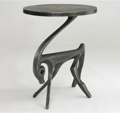 Gazelle Side #Table - Black Iron