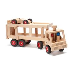 Amy says: He would like any of the Fagus trucks- fire engine, etc Fagus Wooden Car Carrier In Toy Trucks – Nova Natural Toys & Crafts