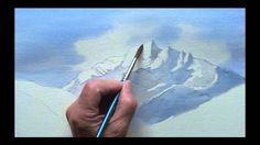 art lessons, tutorials in watercolor painting, how to paint mountains source The post Painting mountains in watercolor appeared first on PaintingTube. Watercolor Video, Watercolour Tutorials, Watercolor Drawing, Watercolor Techniques, Art Techniques, Painting & Drawing, Painting Lessons, Art Lessons, Watercolor Landscape Paintings