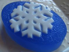 Sparkling Snowflake Oval Soap Bar  Jack Frost by BlueMoonBubbles, $5.00