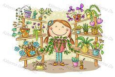 Plant Illustration, Doodle Drawings, Happy Kids, Diy Art, Design Bundles, Art For Kids, Boy Or Girl, Doodles, Artwork