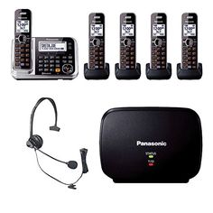 Panasonic Link2Cell KX-TG7875S DECT 6.0 1-Line Bluetooth Cordless Phone with Enhanced Noise Reduction & Digital Answering Machine