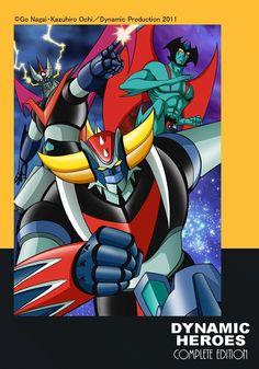 Dynamic Heroes (Great Mazinger, Devilman and UFO Robot Grendizer) by Kazuhiro Ochi