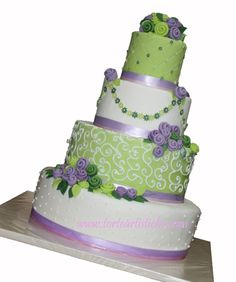Torta nuziale verde