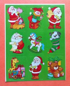 Vintage Eureka Christmas Sticker Sheet