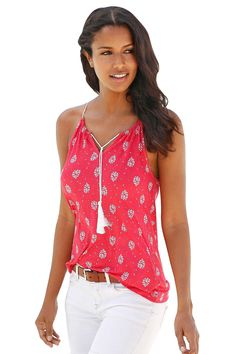 99c4715ef44 Cheap Red Flowery Print Spaghetti Strap Vest Top only US  5.18