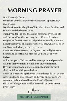 Morning Prayer Today, Powerful Morning Prayer, Sunday Prayer, Morning Prayer Quotes, Prayer For The Day, Prayer For Family, Morning Prayers, Daily Prayer, Powerful Prayers