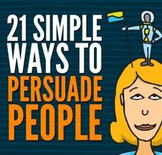 How is it that certain people are so incredibly persuasive? Can we all harness those skills? After studying the most influential political, social, business and religious leaders, and trying countless techniques out myself, these are the 21 critical lessons I've identified to persuading people.