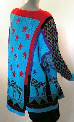 Susan Summa Knit Sweater, Machine Knitted, Unique Knitwear Signed SUSAN SUMMA.. $420.00, via Etsy.