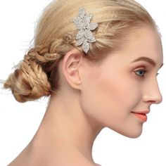 STEVE YIWU Alloy Crystal 3pcs Flowers Side Hair Combs Elegant Wedding Hair Accessories ** Visit the image link more details.