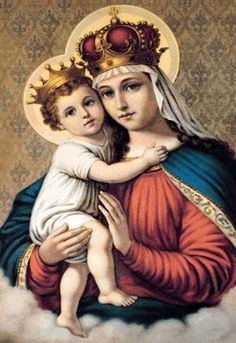 Blessed Virgin Mary and Jesus Christ: I would love to have this on a picture frame and hang it on the living room wall.