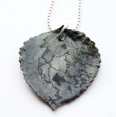 Black Aspen Leaf Pendant, Bridal, Gifts Under 20, Black Friday, Cyber Monday on Etsy, $12.00