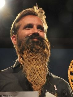 No Shave November: The Craziest Facial Hair!  Wonder if he braided it himself?