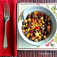 This Mediterranean chickpea salad is chock full of hearty & healthy goodness. It has a tangy vinegar and lemon dressing that pairs so well with cranberries