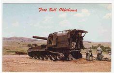 Howitzer 8 inch Self Propelled US Army Artillery Gun Fort Sill Oklahoma Postcard | eBay