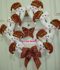 . Christmas And New Year, Christmas Time, Christmas Wreaths, Merry Christmas, Christmas Decorations, Xmas, Christmas Ornaments, Holiday Decor, Felt Wreath