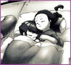 Awww <3 Little Hinata and Neji. #Naruto