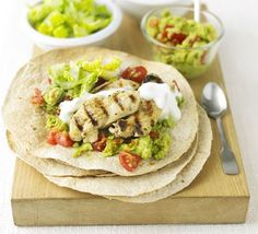 Lime & pepper chicken wraps recipe - Recipes - BBC Good Food