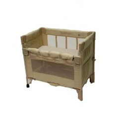 Arm's Reach Co-Sleeper Mini Bassinet. My son slept in this until age 6 months. Plus, it has wheels and can easily be wheeled wherever you need it. I put a small baset with diaper changing things, an extra set of clothes or two for at night.