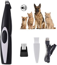 AngFan Pet Clippers Cat Shaver, Professional Hair Grooming Clippers Detachable Blades Cordless Rechargeable with Scissor, Guards for Small Medium Large Dogs Cats and Other Pets Dog Grooming Clippers, Nagel Blog, Professional Hairstyles, Edge Design, Large Dogs, Pet Supplies, Blade, Dog Cat, Pets