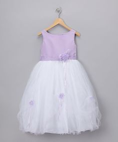 Lavender Rose Satin Dress - Infant & Girls