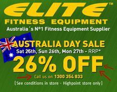 Australia Day Sale Gym Equipment Sale Elite Fitness Equipment Highpoint 2014 No Equipment Workout, Fitness Equipment, Australia Day, Best Natural Skin Care, The Neighbourhood, Conditioner, Elite Fitness, Ads, Gymnastics Equipment
