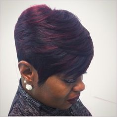 This cute short girl hairstyles truly are stylish Short Weave Hairstyles, Short Sassy Haircuts, African Hairstyles, Short Hair Cuts, Short Pixie, Pixie Cuts, Girl Hairstyles, Black Girl Short Hairstyles, Bob Cuts