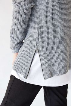 The Narrows Side-Zip Waffle Sweater