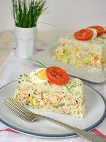 Pastel frío de arroz con atún y surimi | Cuuking! Recetas de cocina
