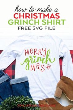 12d1c7a53c9 FREE Christmas SVG - Free Grinch SVG File and tutorial to make a DIY Grinch  Shirt
