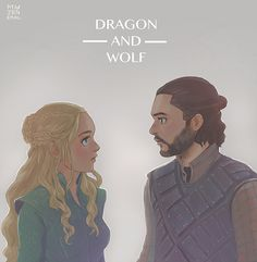 Dragon and Wolf by Janenonself