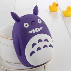 Totoro power bank portable charger is a fun and effective way to keep all your devices fully charged. Plug your iOS or Android devices charging cable directly into the bottom of the Totoro power bank
