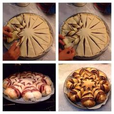 DIY tarta de hojaldre y nocilla. http://little-kimono.blogspot.com.es/2013/11/tarta-de-hojaldre-y-nocilla.html